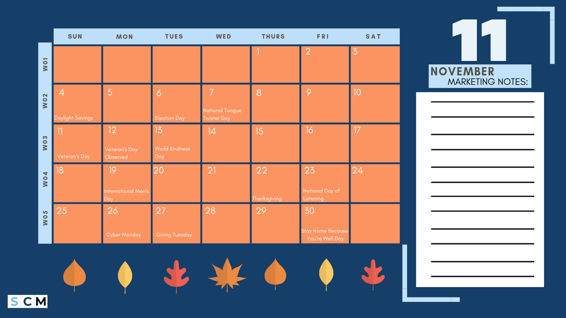 content calendar thanksgiving enrollment marketing